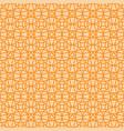 orange linear arabic ornamental pattern vector image vector image