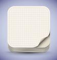 Paper App Icon vector image vector image