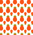 Pattern of strawberries vector image vector image