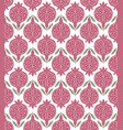 pattern with pink pomegranates vector image