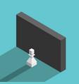 pawn and wall obstacle vector image