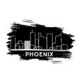 phoenix skyline silhouette hand drawn sketch vector image vector image