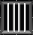 prison window part two background vector image vector image