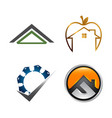real estate logo set building and construction vector image vector image