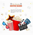 realistic 3d detailed cinema concept banner card vector image