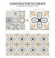 realistic ceramic floor tiles vintage pattern vector image