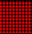 retro red and black houndstooth pattern vector image vector image