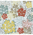 Seamless floral retro background vector image vector image