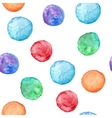 seamless pattern with watercolor circles vector image