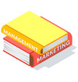 set colored books icons in isometric design vector image vector image
