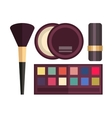 Set make up brushes and beauty fashion