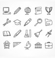 set of linear school icons vector image vector image