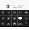 set of vintage and premium emblems vector image vector image