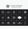 set vintage and premium emblems vector image