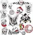 Skull tattoo set vector | Price: 1 Credit (USD $1)