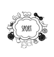 Sport bubbles white and black vector image vector image