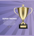 Super trophy web banner with gold cup