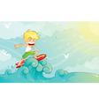 surf boy vector image