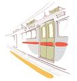 Train Interior vector image vector image