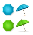 Umbrellas Set Top and Front View vector image vector image