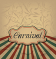 Vintage card with advertising header for carnival vector image vector image