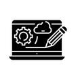 web design black icon concept vector image vector image