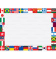 world flag icons frame vector image vector image