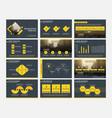 yellow abstract presentation templates vector image