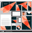 Corporate identity business set vector image