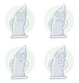 funny and comic condom character vector image