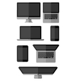 Set of isolated gadgets vector image