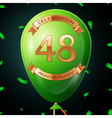 Green balloon with golden inscription forty eight vector image