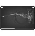 3d model of the steering column on a black vector image vector image