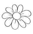 A flower sketch vector image
