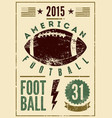 american football vintage grunge style poster vector image vector image