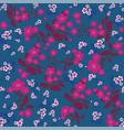 blue flowers seamless print vector image