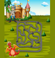 boardgame template with knight and dragon vector image vector image