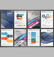 brochure template with infographic elements vector image vector image