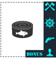 can with label tuna fish icon flat vector image vector image