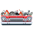 car parts with automotive front end vector image