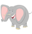 cartoon elephant funny animal character vector image vector image