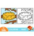 coloring book zero empty nest vector image vector image