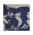 Cool Black Blue Abstract Low Polygon Background vector image vector image