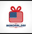 Creative memorial Day Greeting stock vector image