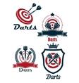 Darts sporting emblems