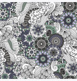 decorative grey floral ornamental pattern vector image vector image
