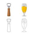 design of pub and bar symbol set of pub vector image vector image