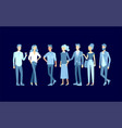 detailed character business men and women working vector image