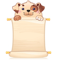 Dog with scroll vector image vector image
