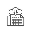 download documents cloud storage line icon vector image